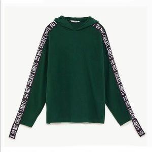 Zara | Hoodie with Extended Ribbon Sleeves M